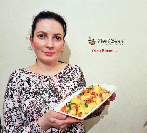 cartofi taranesti reteta simpla 3 500x454 - Cartofi taranesti cu ceapa rosie, boia si bacon