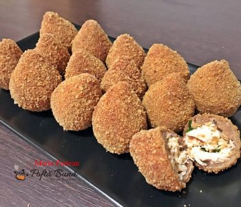 Coxinhas de frango, crochete in forma de copanele