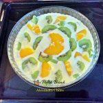 Crema de lapte cu kiwi si portocale