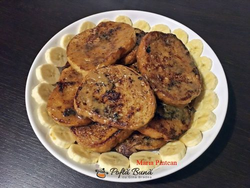 paine cu ou caramelizata reteta rapida 6 500x375 - Paine cu ou caramelizata