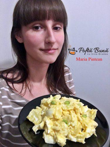 salata de cartofi cu ceapa 375x500 - Salata de cartofi cu ceapa si maioneza