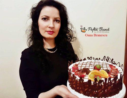 tort cu doua blaturi si crema de ciocolata 4 500x385 - Tort de ciocolata si doua blaturi