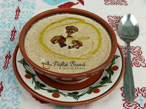 Supa crema de ciperci de post sau cu smantana reteta gina bradea 1 500x375 - Supa crema de ciuperci - reteta de post sau cu smantana