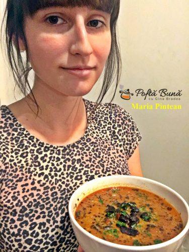 Supa de fasole neagra cu chorizo