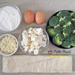 Quiche cu broccoli si telemea