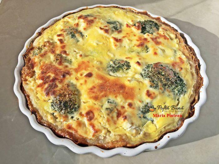 quiche tarta cu broccoli si telemea 6 700x525 - Quiche cu broccoli si telemea