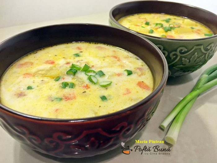 Supa de legume cu porumb
