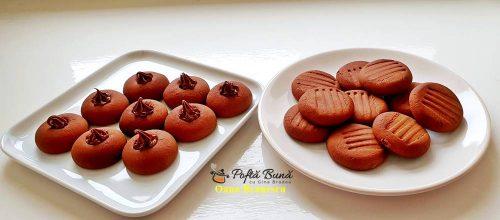 Biscuiti fragezi cu ciocolata