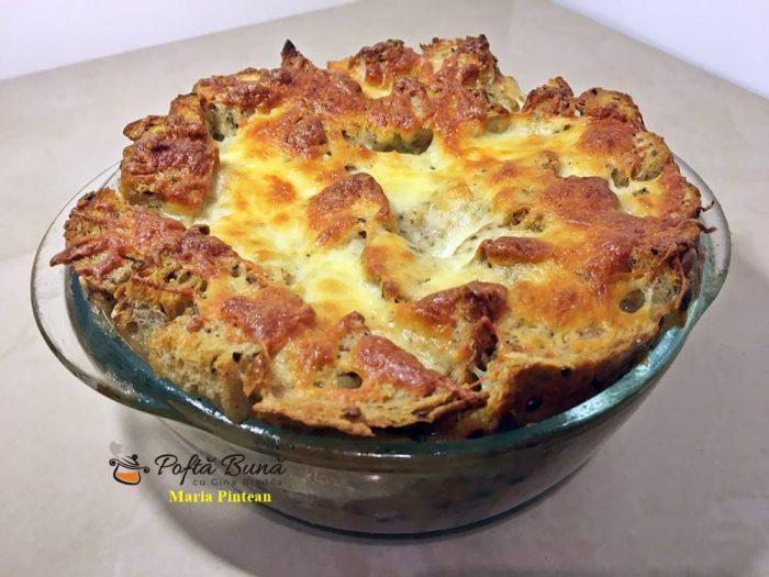 Budinca de paine la cuptor, supa de paine