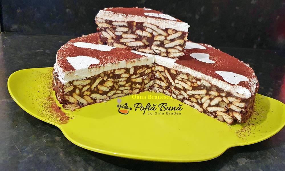 reteta de tort de biscuiti 1 - Tort de biscuiti