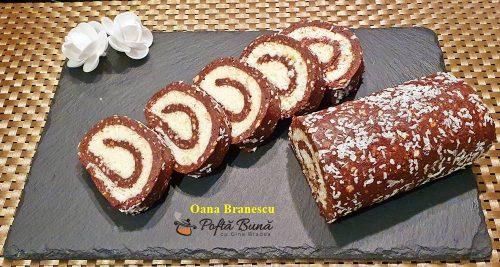 reteta rulada de biscuiti cu crema de cocos 6 500x267 - Rulada de biscuiti cu crema de cocos