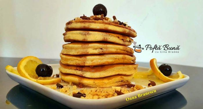 reteta clatite americane 700x377 - Clatite americane sau pancakes reteta simpla