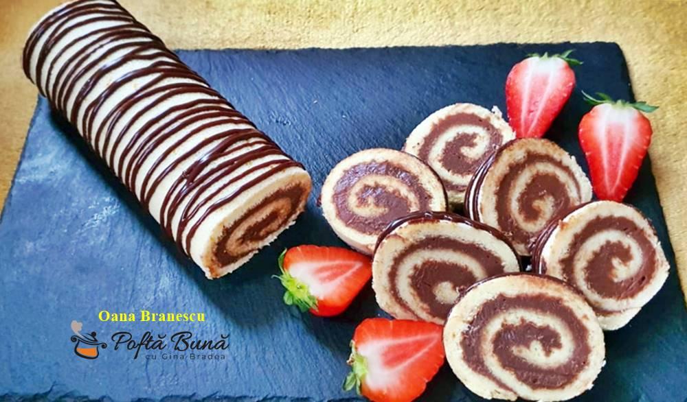 Rulada cu mascarpone si ciocolata