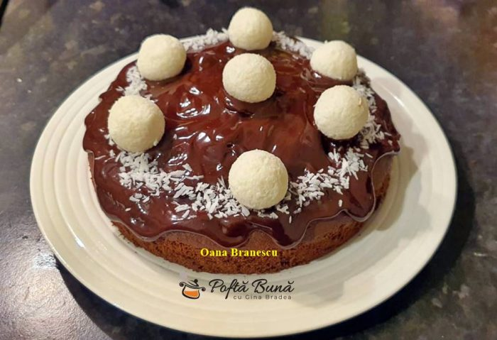 tort cu ciocolata si cocos reteta simpla 5 700x479 - Tort cu ciocolata si cocos