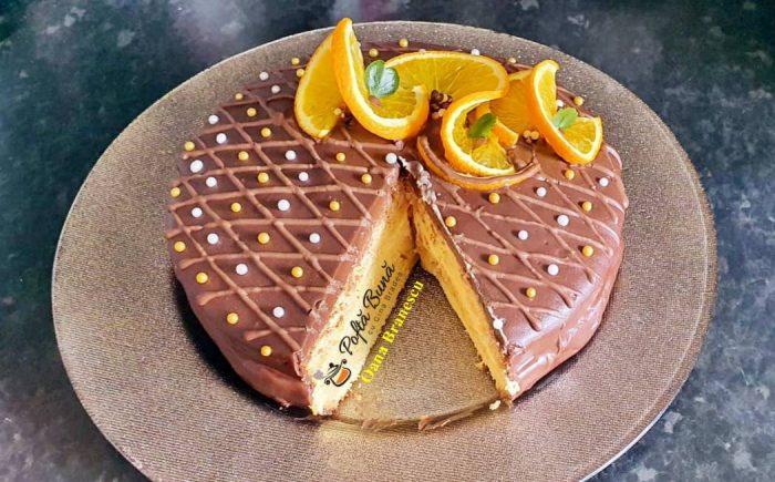 Tort cu portocale si ciocolata reteta simpla