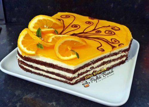 tort cu crema de branza si jeleu de portocale 1 500x361 - Tort cu crema de branza si jeleu de portocale