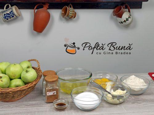 Ingrediente pentru tarta cu mere