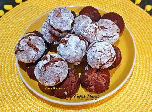crinkles fursecuri crapate cu ciocolata 4 500x368 - Crinkles, fursecuri crapate cu ciocolata