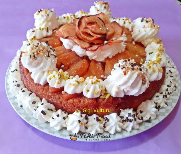 tort cu pere si frisca reteta simpla 2 618x525 - Tort cu pere si frisca