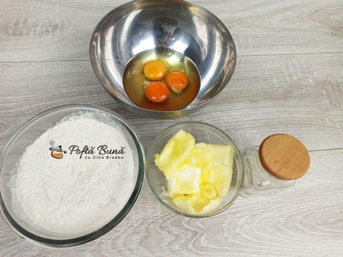 Ingrediente pentru galustele de faina