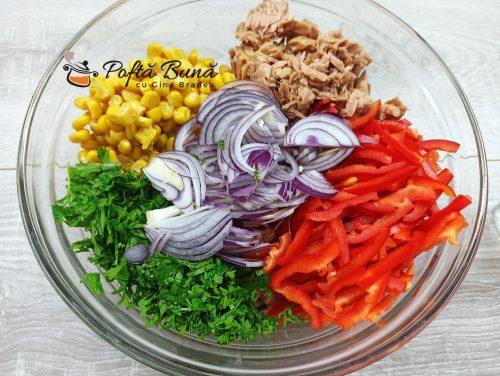 Salata de fasole cu ton si porumb