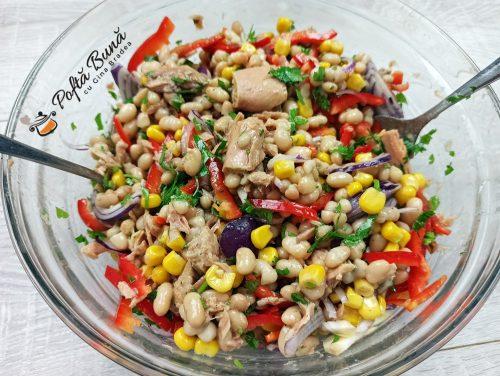 Salata de fasole boabe cu ton reteta gina bradea 5 500x376 - Salata de fasole cu ton si porumb