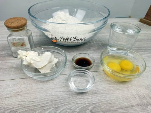 Ingrediente pentru aluatul cu osanza
