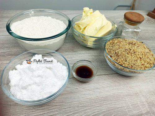 Ingrediente pentru reteta de aluat fraged cu nuci