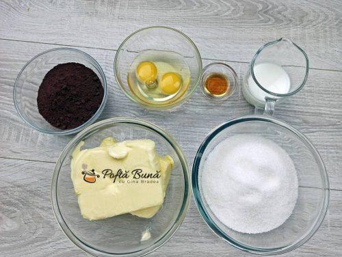 Ingrediente pentru crema de cacao cu unt