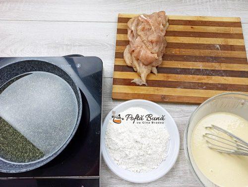 Snitele de pui snitele pufoase la cuptor reteta gina bradea 4 500x376 - Snitele de pui, snitele la cuptor sau prajite