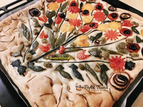 focaccia buchet de flori reteta italiana 2 500x375 - Focaccia Buchet de flori