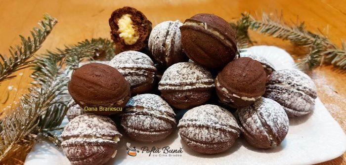 Nuci cu cacao si crema de cocos