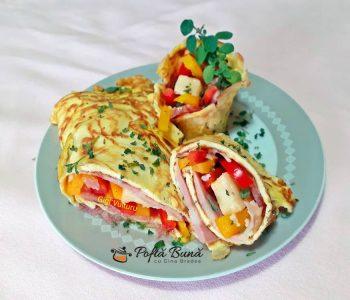 rulada din omleta reteta simpla 2 350x300 - Index retete culinare (categorii)