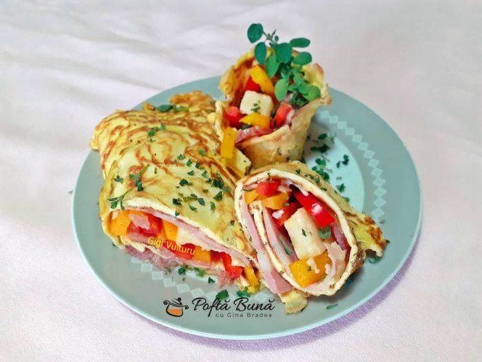 Rulada din omleta reteta simpla