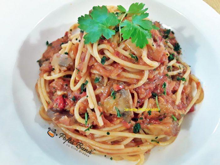 Spaghete cu legume reteta de post