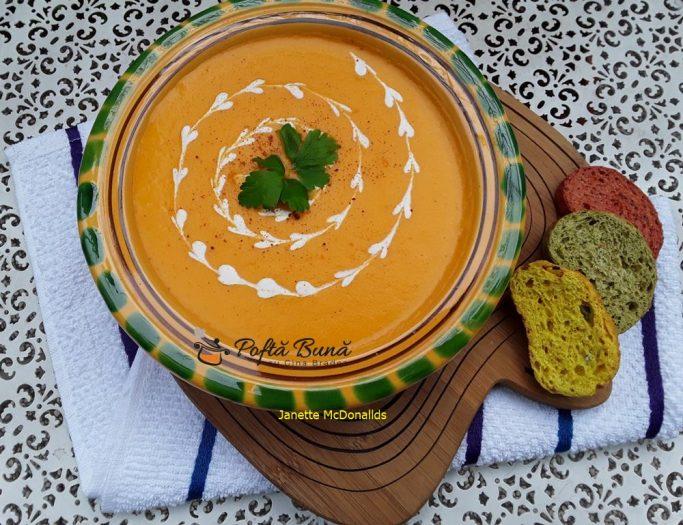 Supa crema de morcovi si cartofi