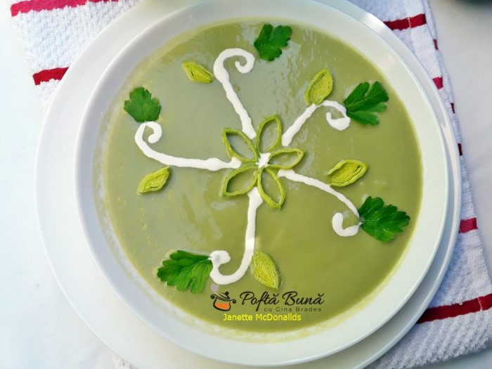 Supa crema de praz cu avocado