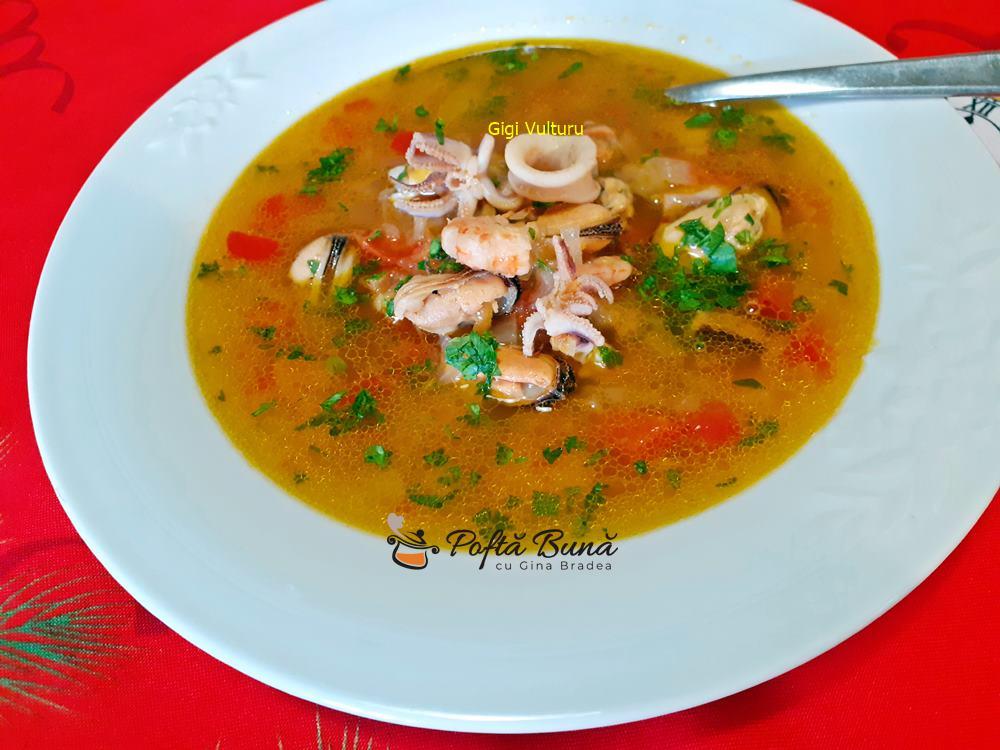 Supa de fructe de mare