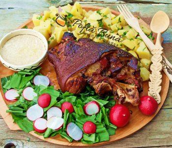 Ciolan de porc cu miere, la cuptor