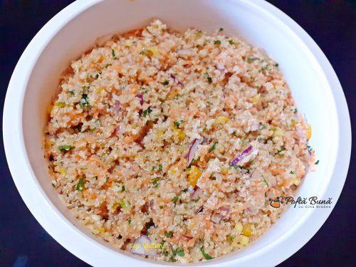 Chiftele de quinoa cu legume
