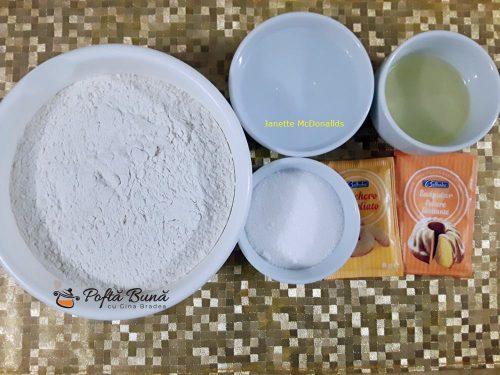 Cosulete cu crema din lapte de migdale