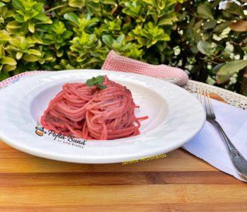 spaghete cu crema de sfecla rosie si branza 3 350x300 - Index retete culinare (categorii)
