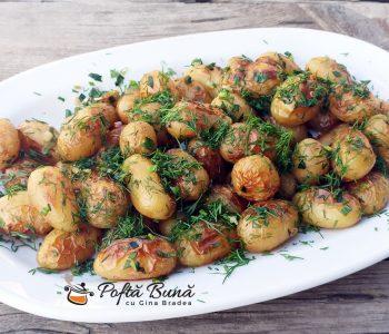 Cartofi noi la cuptor cu usturoi si marar reteta gina bradea 4 350x300 - Index retete culinare (categorii)