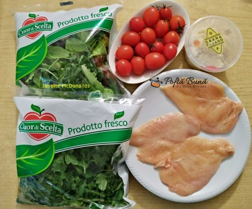salata cu piept de pui si rosii reteta simpla 2 500x414 - Salata cu piept de pui si rosii