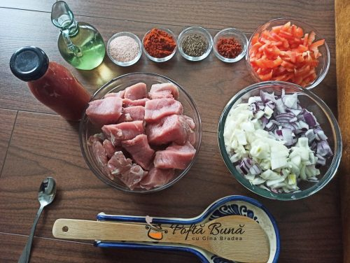 Tocanita din carne de porc reteta ungureasca