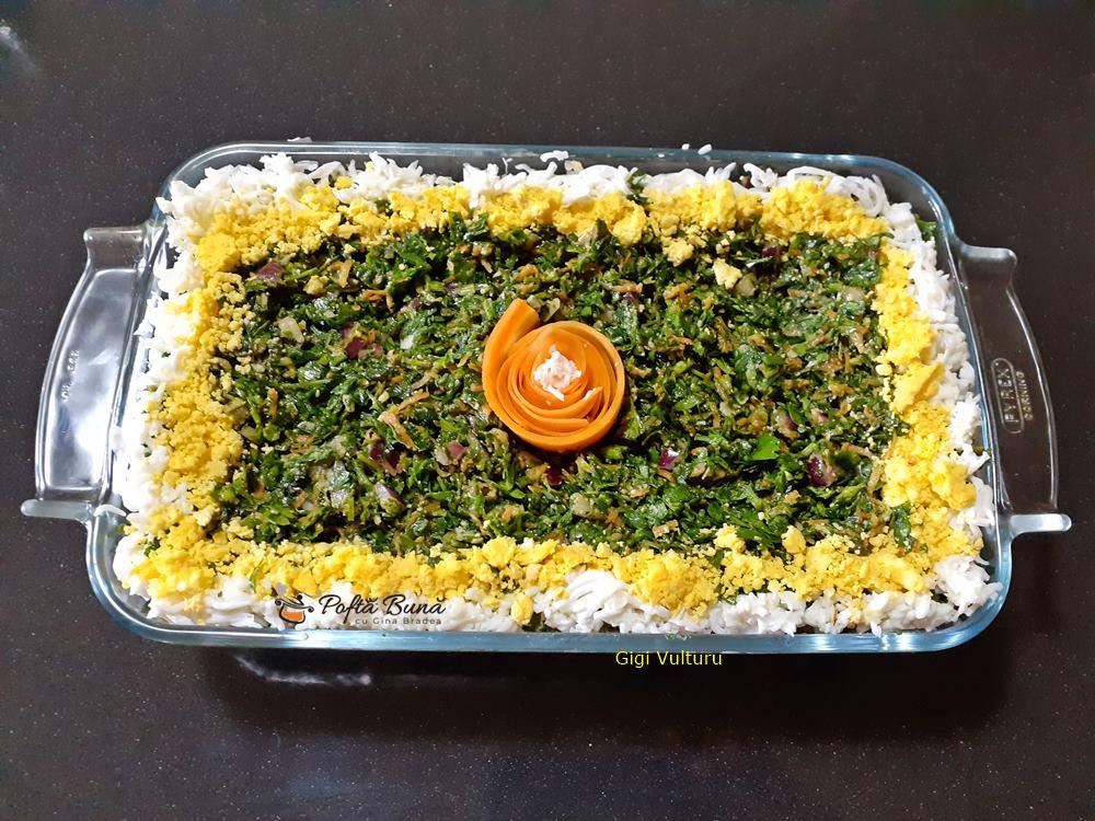 Salata de patrunjel cu cascaval