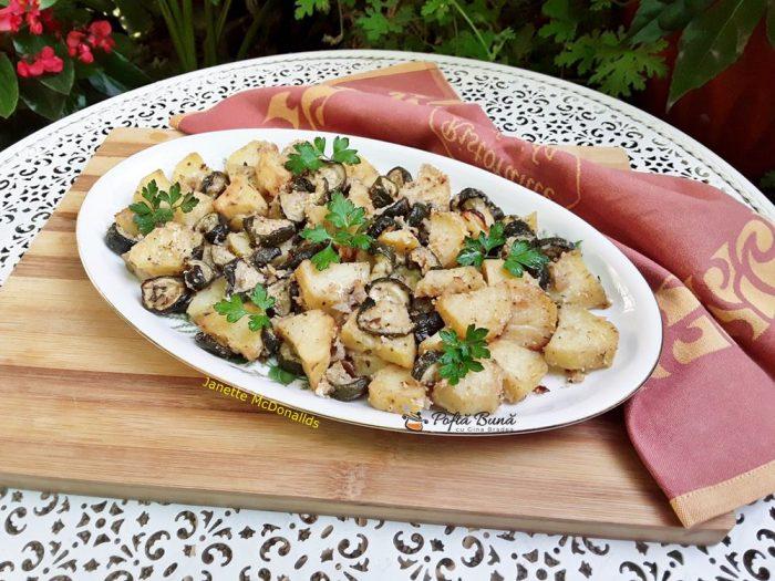 cartofi cu dovlecei gratinati la cuptor 2 700x525 - Cartofi cu dovlecei gratinati la cuptor