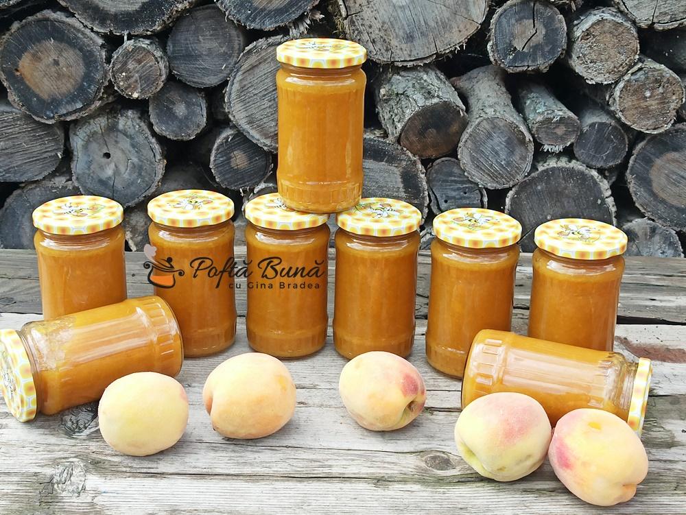 Gem de piersici sau nectarine reteta simpla, fara conservanti