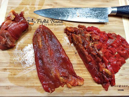 Salata de vinete cu ardei copti si usturoi reteta gina bradea 3 500x376 - Salata de vinete cu ardei copti si usturoi