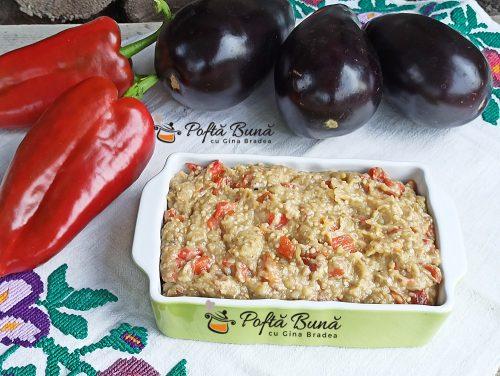 Salata de vinete cu ardei copti si usturoi reteta gina bradea 6 500x376 - Salata de vinete cu ardei copti si usturoi